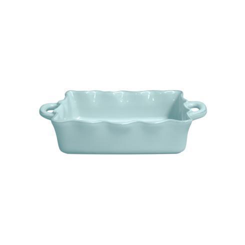 Casafina  Cook & Host - Robin's Egg Blue Med. Rect. Ruffled Baker  $59.50