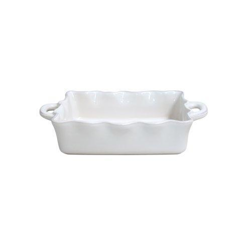 Casafina  Cook & Host - White Med.Rect. Ruffled Baker, White $49.50