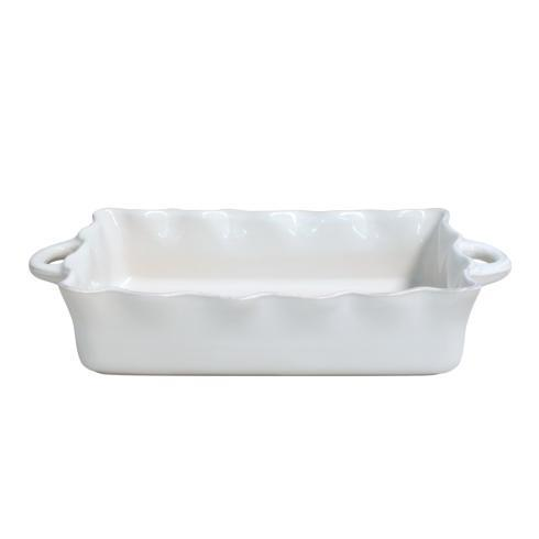 Casafina  Cook & Host - White Lg. Rect. Ruffled Baker, White $74.00
