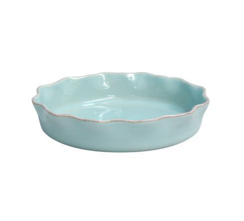 Casafina  Cook & Host - Robin's Egg Blue Ruffled Pie Dish $48.50
