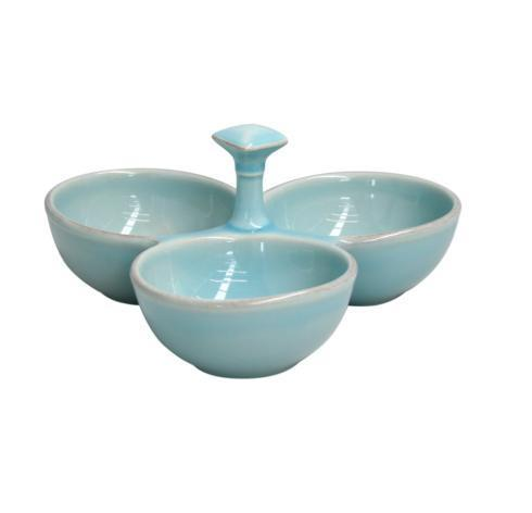 Casafina  Cook & Host - Robin's Egg Blue 3-Section Server, Rbl $53.00