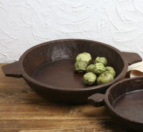 Casafina  Wooden Bowls Large Hand Carved Wooden Bowl $63.75