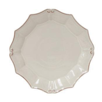 Casafina  Vintage Port - White Round Dinner Plate $28.50