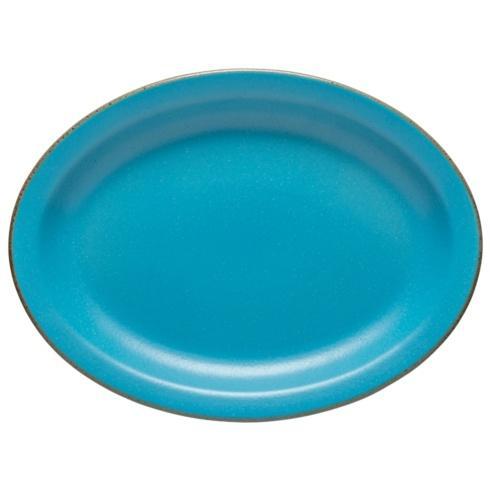 "Casafina  Positano - Cyan Oval Platter 16"" $69.00"