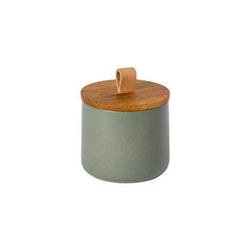 "$57.00 Canister 5"" w/ Oak Wood Lid"
