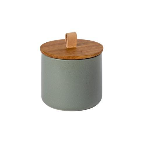 "$66.00 Canister 6"" w/ Oak Wood Lid"