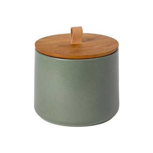 "$89.00 Canister 8"" w/ Oak Wood Lid"