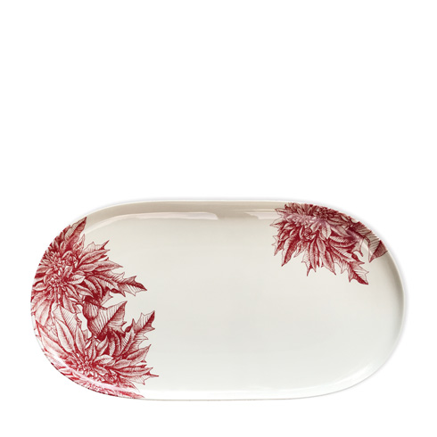 $135.00 Red 16 In Oval Platter