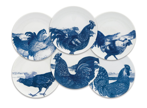 Roosters - Blue collection
