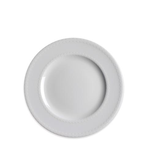 Caskata  Pearls White 8 In Rim Salad $25.00