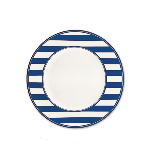 "$35.00 Beach Towel Stripe (BLU) 8.5"" Salad Plate Single"