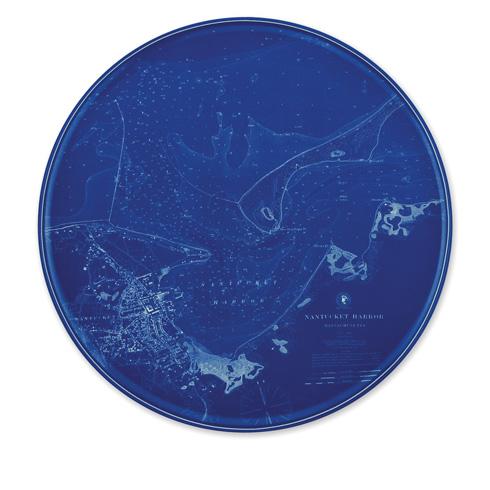 """$80.00 Chart (BLU)  - Nantucket 12.25"""" Platter"""