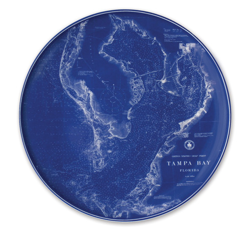 "$80.00 Chart (BLU)  - Tampa-St. Pete -12.25"" Platter"