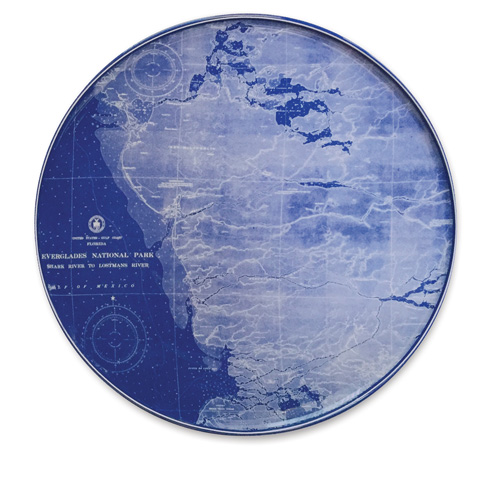 """$80.00 Chart (BLU)  - Everglades 12.25"""" Platter"""