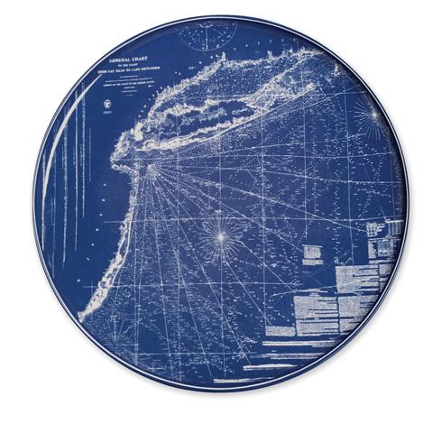 """$80.00 Chart (BLU)  - Eastern Seaboard 12.25"""" Platter"""
