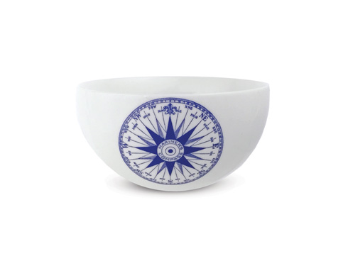 "$38.00 Chart (BLU) - Compass Rose - 4"" Bowl"