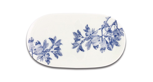"""Caskata  Arbor - Blue 12"""" Oval Platter $55.00"""