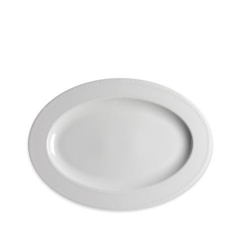 Caskata  Pearls White 14 In Rim Oval Platter $80.00