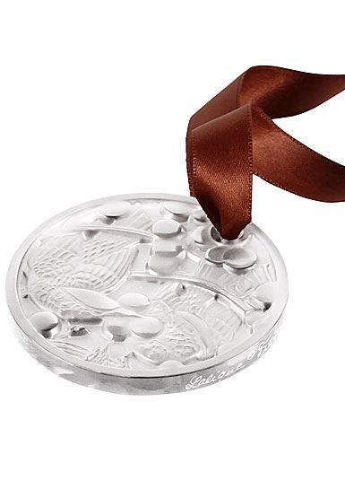 $120.00 Lalique 2021 Annual Ornament, Merles et Raisins, Clear