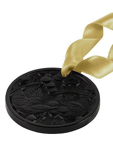 $140.00 Lalique 2021 Annual Ornament, Merles et Raisins, Black