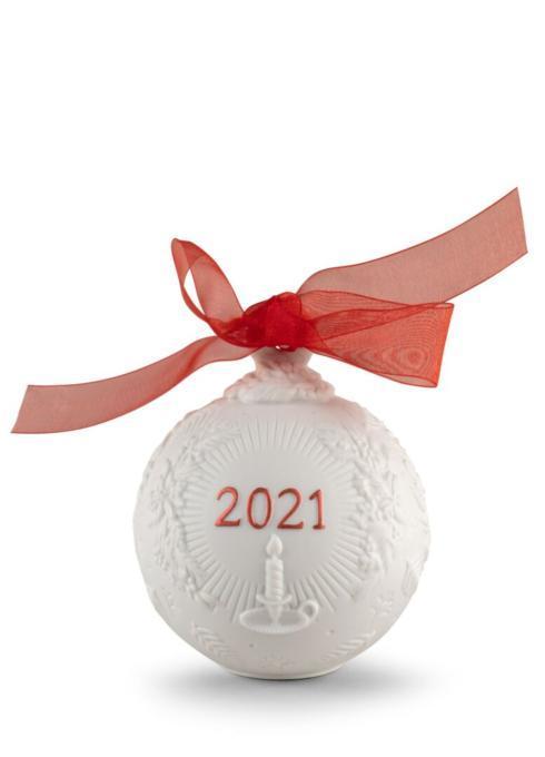 2021 Christmas ball (red finish)