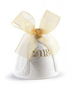 $85.00 2018 Lladro Bell Gold