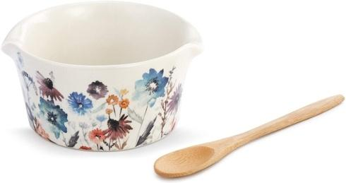 Demdaco   Bowl & Spoon Meadow Flowers $19.95