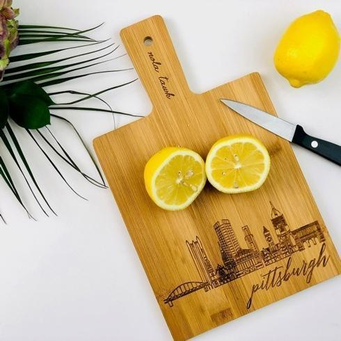 Contemporary Concepts Exclusives  Nola Tawk Pittsburgh Bamboo Cutting Board $19.95