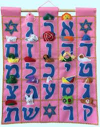 $34.95 ALEPH BET wall hanging Pink