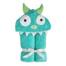 $48.00 Turquoise Monster Hooded Towel - Embroidery inlcuded
