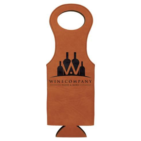$19.95 Wine Bag Leatherette - Rawhide