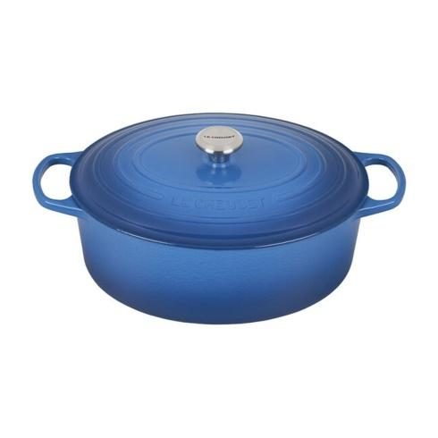 $460.00 9.5 Quart oval French Oven Marseille Blue