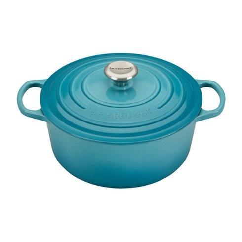 $370.00 5.5 Quart Round Dutch Oven Caribbean Blue