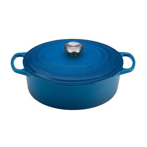 $350.00 5 Quart Oval French Oven Marseille Blue