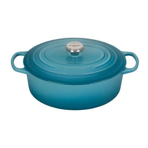 $395.00 6.75 Quart Oval Dutch Oven Caribbean blue