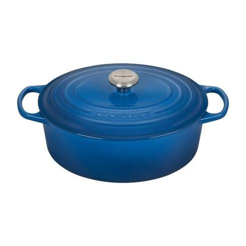 $395.00 6.75 Quart Oval French Oven Marseille blue