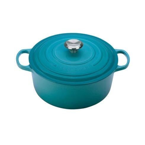 $410.00 7.25 Quart Round French Oven Carribean Blue