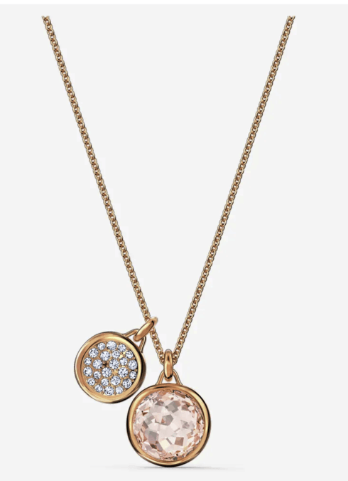 $119.00 TAHLIA DOUBLE PENDANT, PINK, ROSE-GOLD TONE PLATED