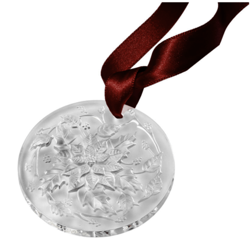 $120.00 POINSETTIA, CHRISTMAS ORNAMENT 2020 CLEAR FROSTED