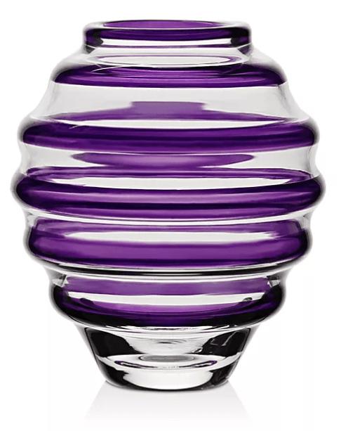 """$95.00 Vase Circle Mini 4"""" amethyst"""