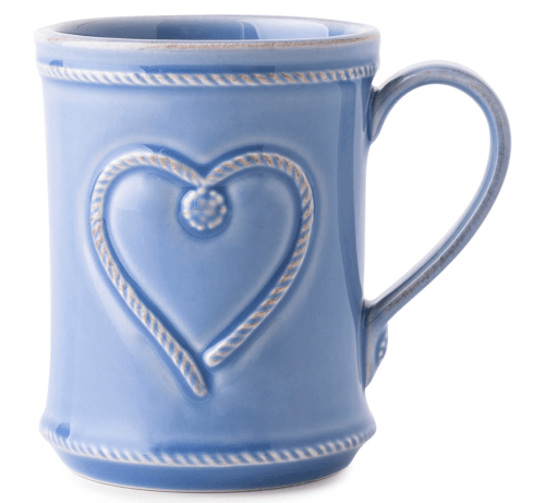$30.00  Juliska Cupfull of Love Mug B&T Chambray