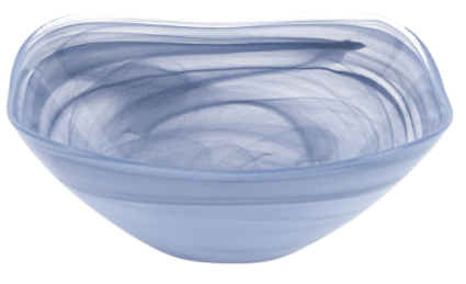 "Contemporary Concepts Exclusives  Badash Soft Blue Alabaster Square Glass 10"" Bowl $35.00"