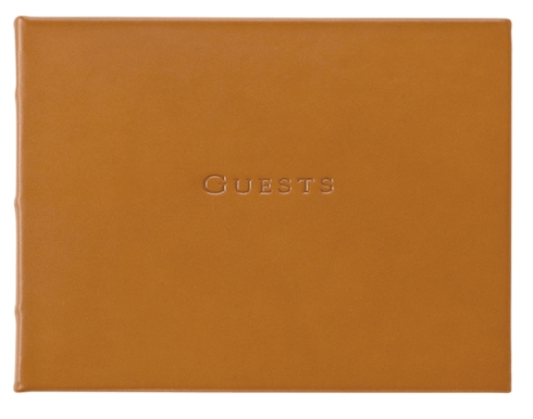 $115.00 Guest Book Tan Leather