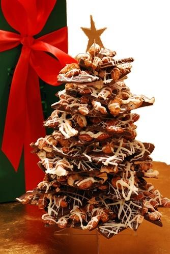 2 Pound Toffee Taboo Christmas Tree - assembled