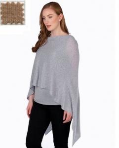 $130.00 Cashmere Dress Topper Camel