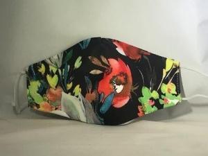 $27.00 Mask Black Floral