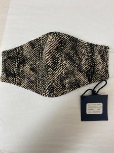 $27.00 Mask Black Beige Python