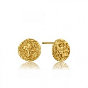 $35.00 Stud Earrings Gold Coin