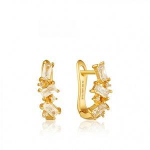 $49.00 Cluster Huggie Earrings Gold