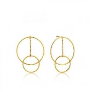 $45.00 Modern Front Hoop Ear Gold